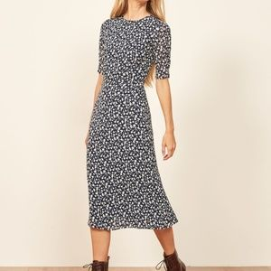 NEW Reformation Prima Midi A-Line Floral Dress 0